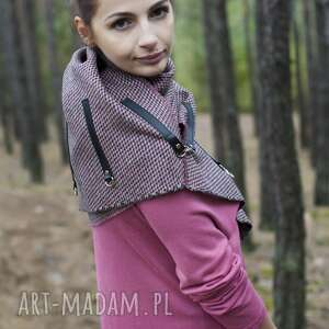 niesztampowe szaliki chusta bardzo starannie wykonany szal zapinany na