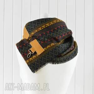 brązowe szaliki szal, chusta, ponczo, komin