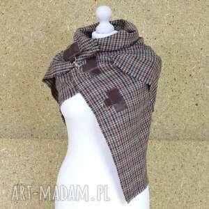 Green Sheep szaliki: Szal, chusta, ponczo w kratkę - kolory jesieni