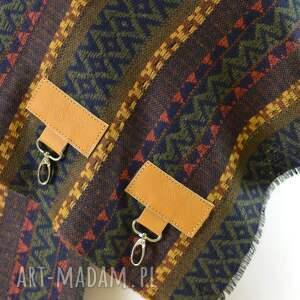 szaliki: Szal, chusta, ponczo, komin w azteckie wzory - pareo skora