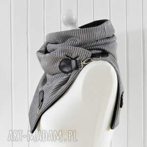 czarne szaliki szal czarno -biały z naturalną
