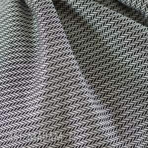 szaliki skóra szal czarno -biały z naturalną