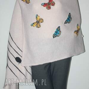 eleganckie szaliki motyle szal filcowany