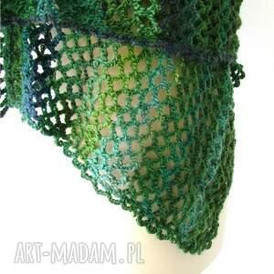 zielone szaliki szal gigant w zieleniach