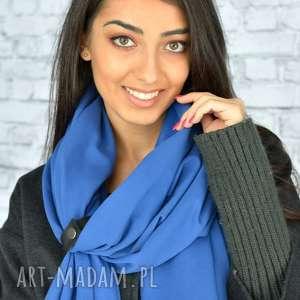 szaliki niebieski szal mega duży 250cm