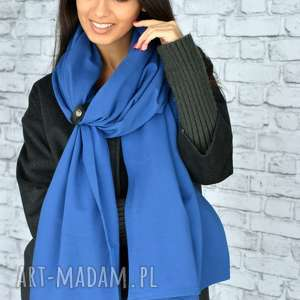 niebieski szal szaliki mega duży 250cm