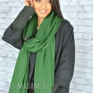 szaliki szal zielony mega gruby 250cm