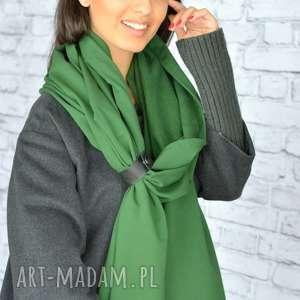 szal-zielony szaliki szal mega gruby 250cm!! zielony