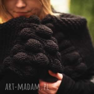 upominek świąteczny ciepły szal na zimę na drutach pod choinkę