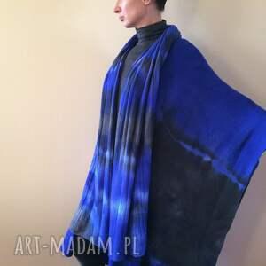 ciepły szaliki unikatowy, ręcznie barwiony szal z wysokiej