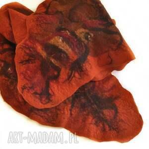 nietypowe szaliki szal nuno ręcznie filcowana