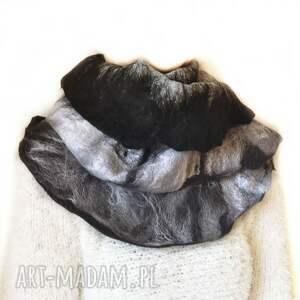 szaliki szal nuno ręcznie filcowana