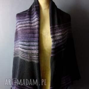 hand made szaliki na prezent szal wydziergany na vintage maszynie