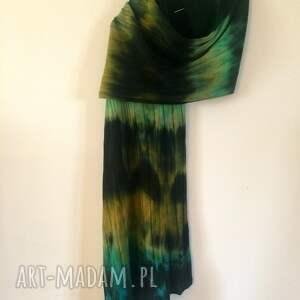 szal zielone wełniany