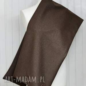 chusta szaliki szal wełniany ze skórą,