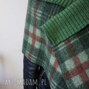 handmade szaliki szal zielony