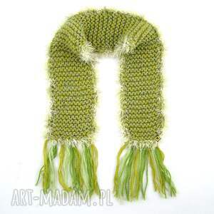 modne szaliki szalik oryginalny, wykonany ręcznie, w jednym