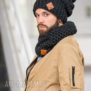 szaliki dla mężczyzn tuba czarna perła