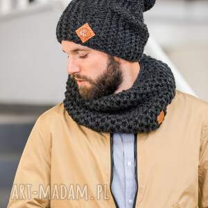 handmade szaliki szalik tuba czarna perła