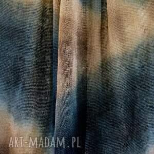 szaliki unikatowy ręcznie barwiony szal ze 100% lnu