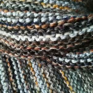 brązowe szaliki szal w szarościach unisex