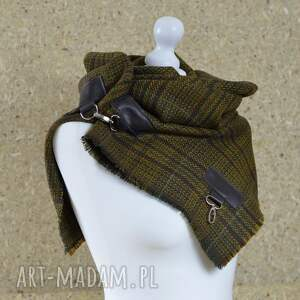 awangardowe szaliki szal wełna z jedwabiem, chusta, ponczo