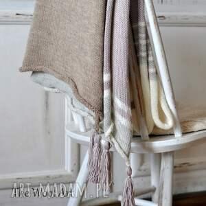szare szaliki szalik wełniany letni szal