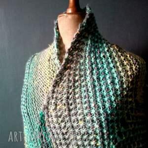 szaliki szal wielobarwna mozaikowa chusta