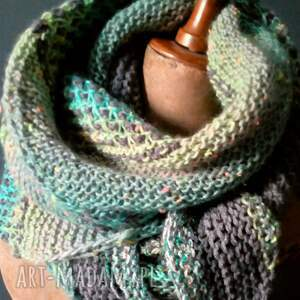 The Wool Art wielobarwna mozaikowa chusta - szal