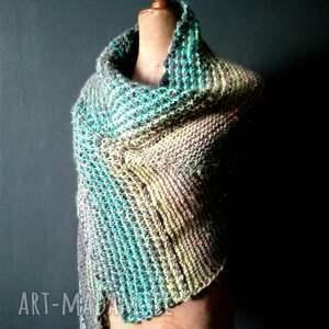 unikalne szaliki szal wielobarwna mozaikowa chusta