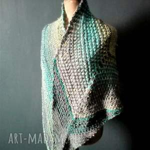 wielobarwna mozaikowa chusta - szal nadrutach