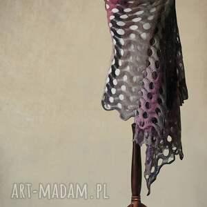 knitwearfactory szaliki wielokolorowy ażurowy szal