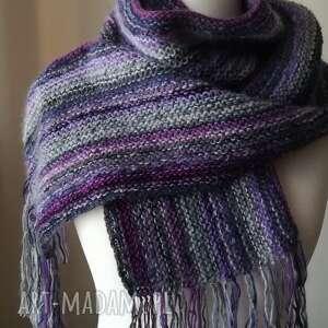 fioletowe szaliki rękodzieło z jedwabiem szal