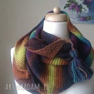 handmade szaliki szal z myślą o zimie unisex