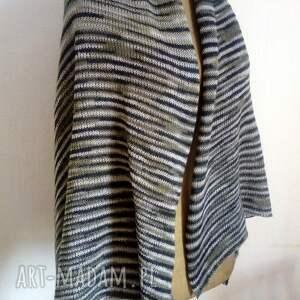 ręcznie wykonane szaliki szal zwiewny, lekki i przyjemny w dotyku