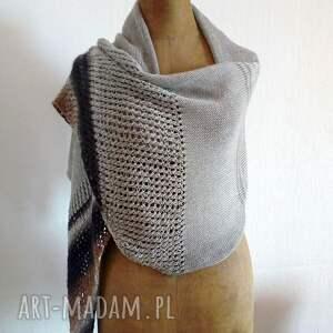 hand-made szaliki wełniany zwiewny szal