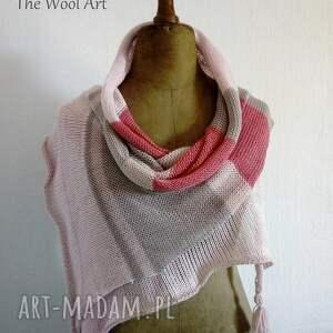 ręcznie zrobione szaliki szalik zwiewny szal