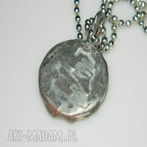 srebrne wisior szklany