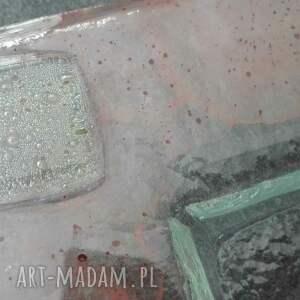 wyraziste szkło patery szklana patera w technice fusingu