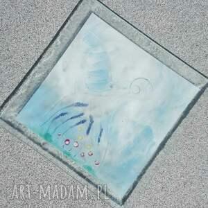szkło fusing szklana patera 32 x 32