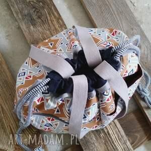 sportowe tashpack szary & amber aztec / tkaninowe torby
