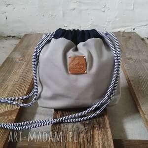niebieskie torby tashpack szary & amber aztec / tkaninowe