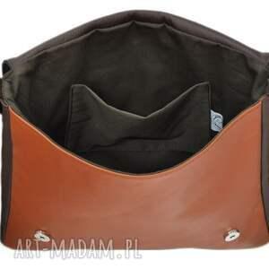 handmade teczki damskie 35 -0006 ciemnobrązowa torebka