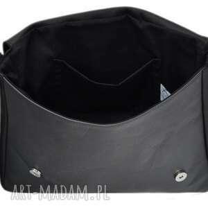 ręcznie zrobione teczki damskie 35-0002 czarna torebka aktówka