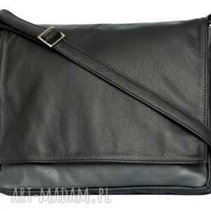 damskie teczki 35-0002 czarna torebka aktówka