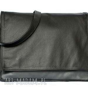 ręcznie zrobione teczki modne 35-0002 czarna torebka aktówka