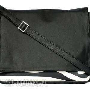 teczki modne 35-0004 czarna torebka aktówka