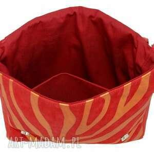 oryginalne teczki damskie 35 -0007 czerwona torebka aktówka