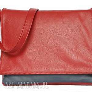 modne teczki czerwone 35-0001 czerwona torebka aktówka