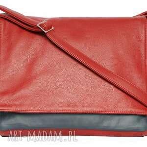 teczki modne 35-0001 czerwona torebka aktówka